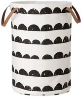 ferm LIVING Half Moon Hand-Printed Laundry Basket