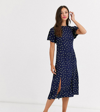 Wednesday's Girl midi shift dress in bright spot