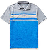 Under Armour Golf Coolswitch Upright Stripe Short-Sleeve Polo Shirt