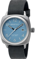 Briston 16240.S.C.18.LVB Clubmaster Classic stainless steel and leather watch