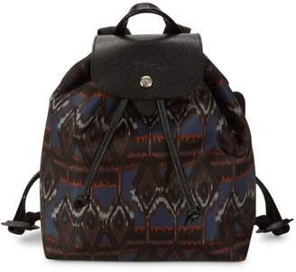 Longchamp Le Pliage Ikat-Print Drawstring Backpack