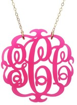 The Well Appointed House Round Acrylic Script Monogram Necklace