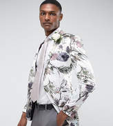 Asos TALL Wedding Super Skinny Blazer With WATERCOLOR Floral Print