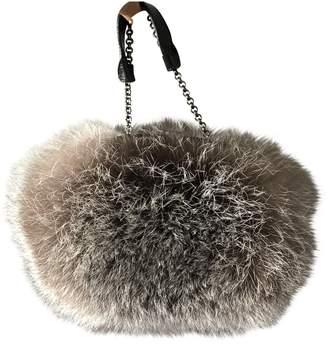 Paule Ka \N Anthracite Fox Clutch bags