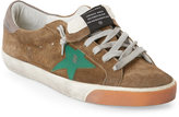 Golden Goose Deluxe Brand Superstar Olive Green Low Top Sneakers
