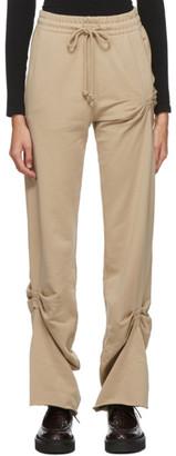 Dries Van Noten Tan Ruched Lounge Pants