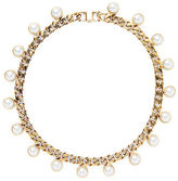 Ralph Lauren Crystal-Pearl Chain Necklace