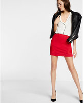 Express mesh insert applique mini skirt