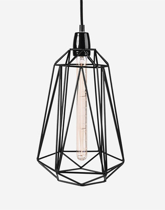 Filament Style - Industrial cage pendant / Large - FREE bulb included - Copper - Copper/Black/Gold
