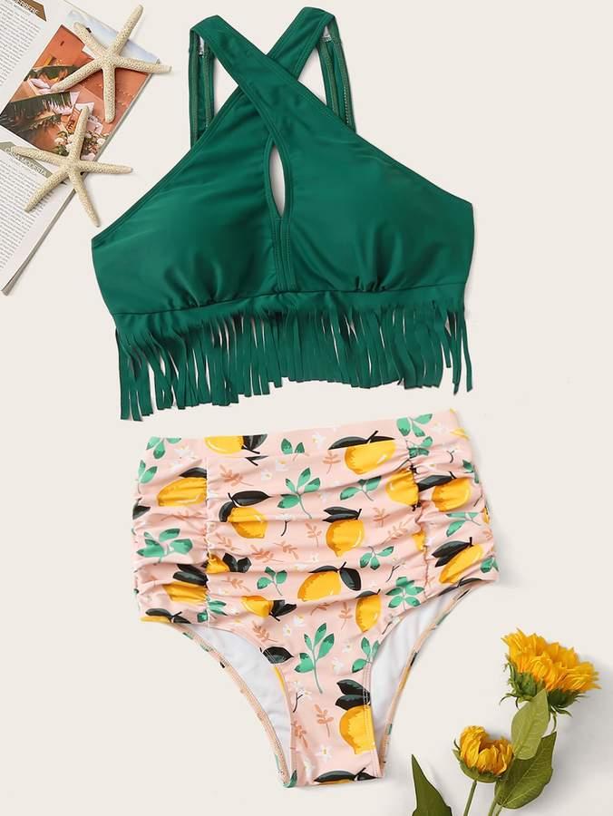 2fcbd2c6eb Fringe Bathing Suit Top - ShopStyle