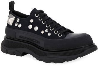 Alexander McQueen Men's Hybrid Embellished Chunky Sneakers