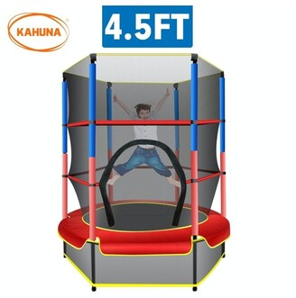 Kahuna 4.5ft Trampoline Round Free Safety Net Spring Pad Cover Mat