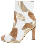 Rodarte Multicolor Leather Ankle Boots