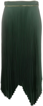 Tory Burch Pleated Handkerchief Skirt
