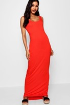 boohoo Tall Sandy Basic Maxi Dress