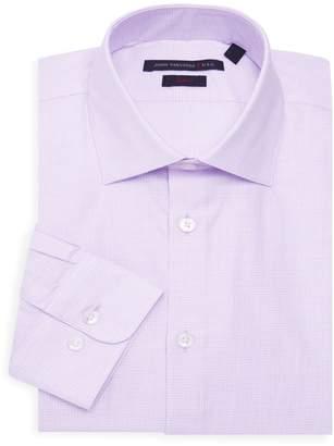 John Varvatos Slim-Fit Checkered Button-Down Shirt