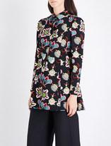 Valentino Floral-print wool tunic
