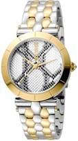 Just Cavalli Women's Animal Devore Stainless Steel Bracelet Watch
