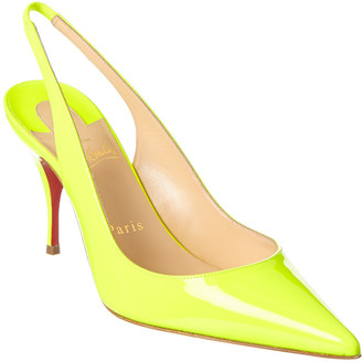 Christian Louboutin Clare 80 Patent Slingback Pump