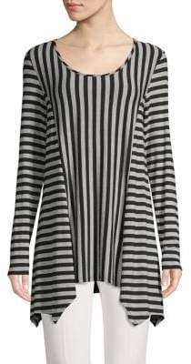 Context Striped Scoopneck Handkerchief Tunic