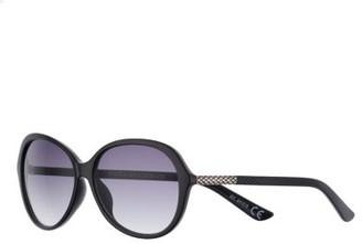 Dana Buchman Women's 58mm Oval Gradient Sunglasses with Animal Texture Temple Detail