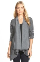 Bobeau Peplum Back Open Front Cardigan (Regular & Petite)