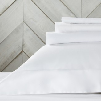 The White Company 200 Thread Count Flat Sheet, White, Super King