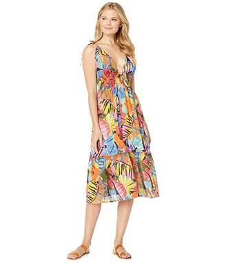Polo Ralph Lauren Batik Floral Midi Dress