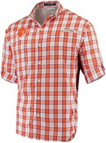 Columbia Unbranded Men's Orange Clemson Tigers Plaid Omni-Shade Collegiate Super Tamiami Button-Down Long Sleeve Shirt