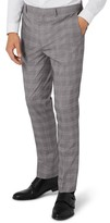 Topman Men's Skinny Fit Check Suit Trousers