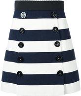 Dolce & Gabbana striped A-line skirt - women - Cotton/Spandex/Elastane/Silk - 38