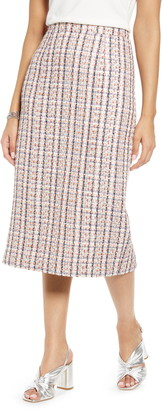 Halogen Tweed Pencil Skirt