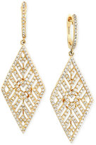 Effy D'Oro by Diamond Geometric Drop Earrings (1 ct. t.w.) in 14k Gold