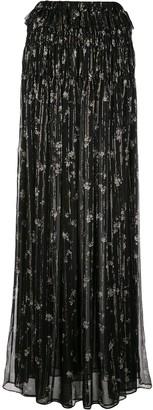 Amiri Floral Print Maxi Skirt