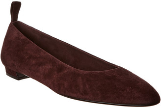 The Row Lady Suede Ballerina Flat
