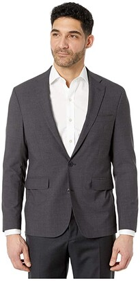Cole Haan Slim Fit Suit Separate Coat (Brown Plaid) Men's Clothing