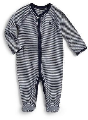 Ralph Lauren Baby Boy's Striped Cotton Jersey Footie