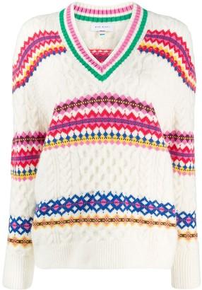 Mira Mikati Diamond Cable Knit Sweater