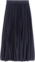 Banana Republic Pleated Poplin Midi Skirt