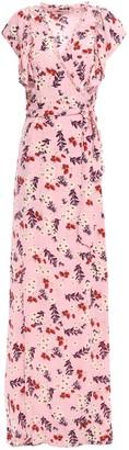 By Ti Mo Floral-print Crepe Maxi Wrap Dress