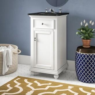 "Charlton Homeâ® Daenerys 19"" Single Bathroom Vanity Set Charlton HomeA Base Finish: Antique White"