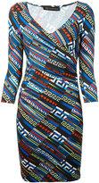 Versace City Lights wrap dress