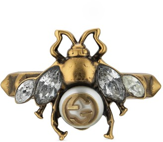 Gucci Bee ring with InterlockingG