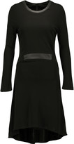 Karl Lagerfeld Seleste leather-trimmed stretch-jersey dress