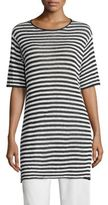 Eileen Fisher Striped Organic Linen Tunic