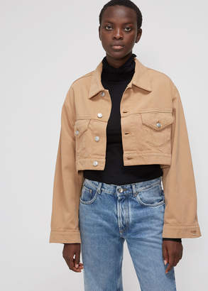 Ganni Cropped Denim Jacket