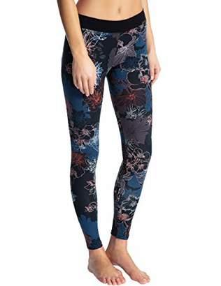 Calida Women's Elastic Trend Leggings, Dark Red Clover 329, (Size: X-)