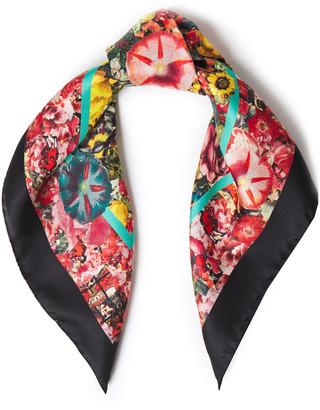 Marni Floral-print Silk-satin Twill Scarf