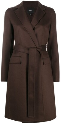Theory Tie-Waist Long-Sleeved Coat