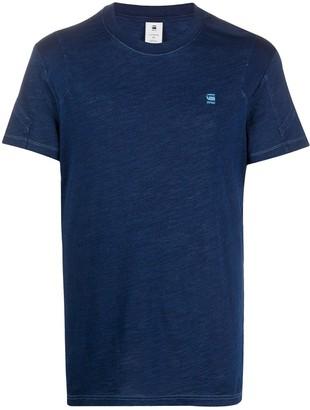 G Star pannelled logo T-shirt